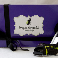 "Maleficent ""Dragon Sorceress"" Couture Style Adult Pair Shoes Dress Shoes Heels Custom Made"