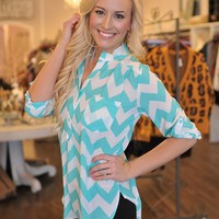Chevron Tunic- Mint