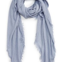 David & Young Pleated Fringe Scarf | Nordstrom