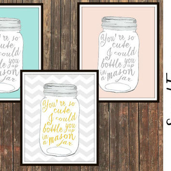 Mason Jar Wall Art shop mason nursery on wanelo