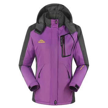 Outdoor High Quality Women Winter Ski Jackets Hunting Wind Stopper Skiing Climbing Snowboarding Waterproof Lady's Sport Jackets