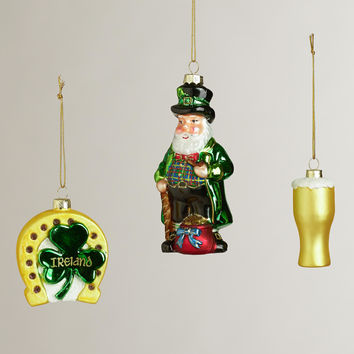 Glass Ireland Boxed Ornaments, Set of 3 - World Market