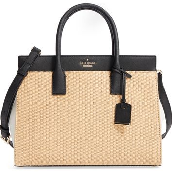 kate spade new york cameron street - candace straw satchel | Nordstrom