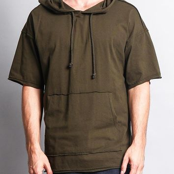 Men's Over Sized Hooded T-Shirt TS7065 - FF1C