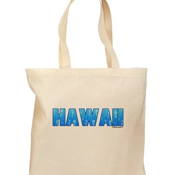 Hawaii Ocean Bubbles Grocery Tote Bag by TooLoud