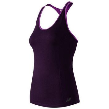 CREYONV new balance get back scoopneck racerback workout tank women s size