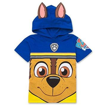 Nickelodeon Paw Patrol Hooded Shirt: Chase, Marshall, Rocky, Rubble, Zuma - Boys, Blue, 3T