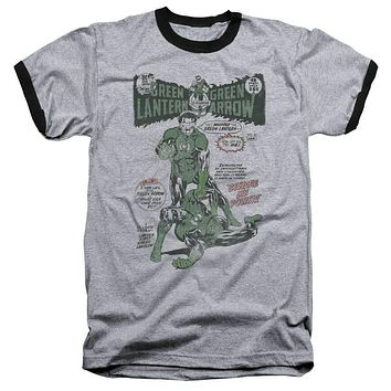 Mens Green Lantern Beware My Power Ringer T-Shirt