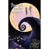 THE NIGHTMARE BEFORE CHRISTMAS POSTER Now and Forever RARE HOT NEW 22x34