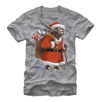 Star Wars Men's - Santa Yoda T Shirt