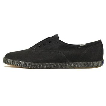 VONE5FW Keds for Women: Champ Jute Black Sneakers