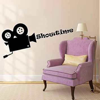 Wall Decals Quotes Vinyl Sticker Decal Quote Showtime Movie Camera Director Film Cinema Filming Phrase Home Decor Art Design Interior NS485