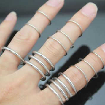 New fashion copper ring 16 pieces ring