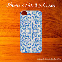 iPhone Case..Ceramic Blue & White Tile Pattern Too