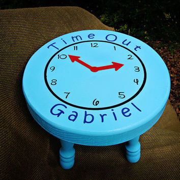 Childs Stool Personalized Time Out Wooden Bench Naughty Chair