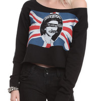 Sex Pistols God Save The Queen Crop Girls Pullover Sweatshirt | Hot Topic