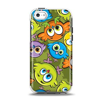 The Colorful Highlighted Cartoon Birds Apple iPhone 5c Otterbox Symmetry Case Skin Set