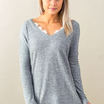 Grace & Lace Snow Day Sweater(XS-XL) - Heather Grey