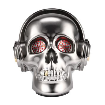 Skull Shaped Mini Portable Bluetooth Speaker Stereo Bass Music Audio Cool Punk Mobile Phone Computer