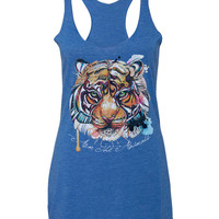 Women's | Brilliant Bengal | Tri-Blend Racerback Tank Top