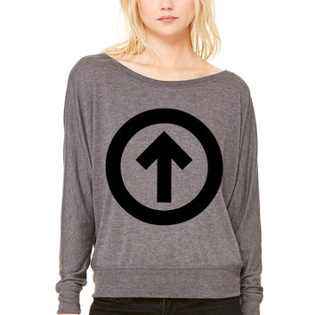 Above The Influence WOMEN'S FLOWY LONG SLEEVE OFF SHOULDER TEE