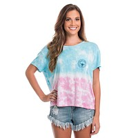 Tie Dye Tee in Merican Beauty by The Southern Shirt Co..