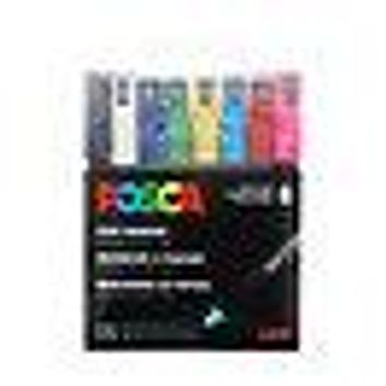 POSCA Acrylic Paint Marker Set - 8 Color Extra-Fine Basic Set