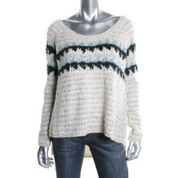 Free People Womens Wool Blend Cable Knit Pullover Sweater
