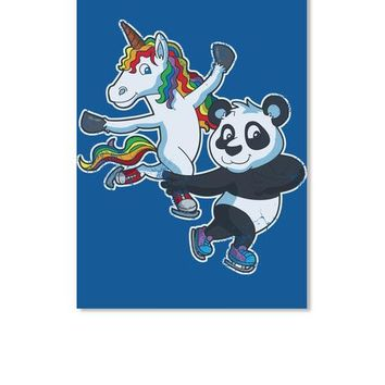 Figure Skate Pair Unicorn And Bear Kids