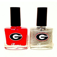 "Rumble Cosmetics University Of Georgia Bulldogs ""Bulldogs & Bling"" Nai"