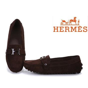 One-nice™ Hermes Women Fashion H Logo Flats Shoes Dancing Shoes