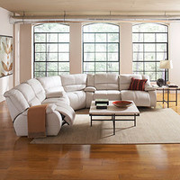 Franco Leather Sectional Living Room Furniture Collection, Power Reclining - Living Room Furniture - furniture - Macy's