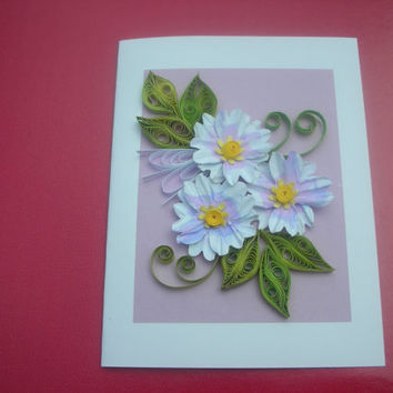 Happy Birthday Card Mom Friend For Her  Handmade Greeting Card Set Thank You Note