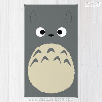 Totoro Kawaii My Neighbor RUG Home Decor Accent Decorative Kid Gift For Her Grey Anime Manga Troll Hayao Miyazaki Studio Ghibli Chibi