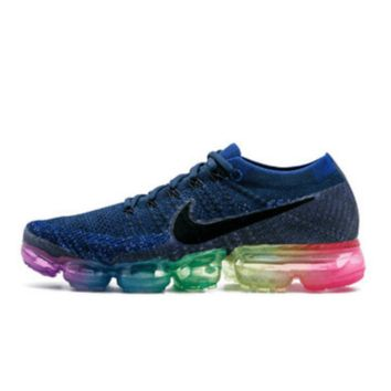 Nike Air Max VaporMax Flyknit Men Women Running Shoes Navy Blue 6183db390f92