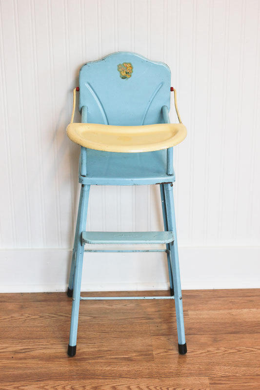 High Chair Toy Holder : Doll high chair vintage metal from mollyfinds on etsy
