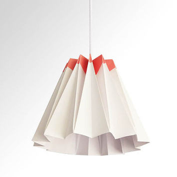 Jelly / Origami Paper LampShade - Pink and White