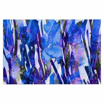 "Ebi Emporium ""Frosty Bouquet 3"" Blue Purple Decorative Door Mat"
