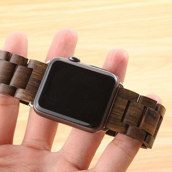 Apple iWatch Brown Wooden Band 38mm/42mm