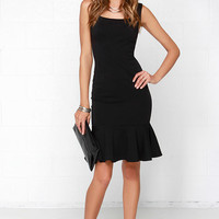 Glamorous Like Clock Workin' It Black Midi Dress