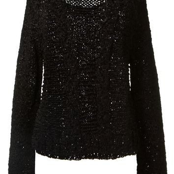 Anthony Vaccarello Chunky Knit Sweater