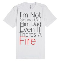 Step Brothers-Fire-Unisex White T-Shirt