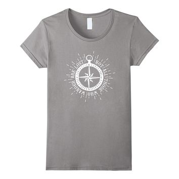 Not All Who Wander Are Lost Compass T-Shirt