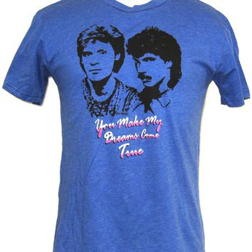 Hall & Oates T-shirt - Men's Daryl Hall John Oates You Make My Dreams Come True Blue Vintage Tshirt