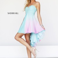 Sherri Hill 11064 Ombre High Low Prom Dress