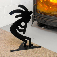 Metal Kokopelli Sculpture, Black Kokopelli, Metal Free Standing Kokopelli, Black Silhouette Kokopelli