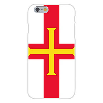 Apple iPhone 6 Custom Case White Plastic Snap On - Guernsey - World Country National Flags