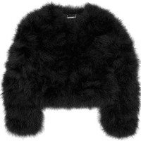 Diane von Furstenberg Jesse marabou feather jacket