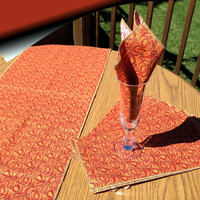 Table Runner Set with Napkins, Fall, Autumn, Halloween, Thanksgiving