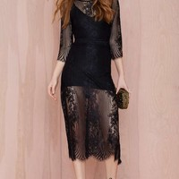 For Love and Lemons San Marcos Dress - Black